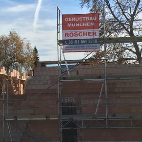 Gerüstbau München Poeckingerstraße - Arbeitsgerüst, Fassadengerüst, Fangnetz